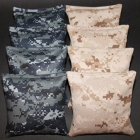 US Navy Seals & USMC Marines Digital Camo Cornhole Bean Bags 8 ACA Military Bags