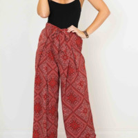 Fashion checked printed slacks waistband straight trousers