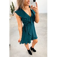Bend The Rules Dress- Jewel Green(S-3X)
