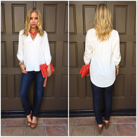 Cream Of The Crop Blouse - White