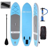Beautiful Paddle Board 10 Foot iSup ~ $499 & Free Shipping - Inflatable Stand Up Paddle Board with Gear, Adjustable Paddle, Leash and Backpack.