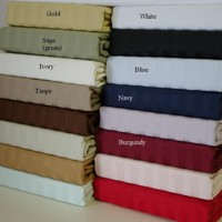 Twin XL Stripe 600 Thread count 100% Combed cotton Sheet sets
