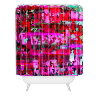 Randi Antonsen Make Love Not War Shower Curtain