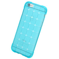 ROCK Crystal Clear Transparent Soft Silicon 0.3mm TPU Blue Cover Case for iPhone 6 Plus/6s plus