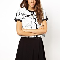 ASOS T-Shirt with Textured Cracked Print
