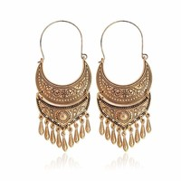 Silver Gold Color Tibetan Earring Boho Dangle Charm Statement Earrings For Women