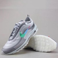 Trendsetter Off White X Nike Air Max 97 Og  Women Men Fashion Casual  Sneakers Sport Shoes