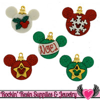 Disney MICKEY MOUSE CHRISTMAS Ornaments Licensed Buttons