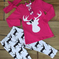 Hot Pink Deer Outfit