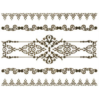 Metallic Temporary Bracelet Tattoo Pack Gold One Size For Women 25460744201