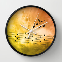 Autumn song Wall Clock by Pirmin Nohr