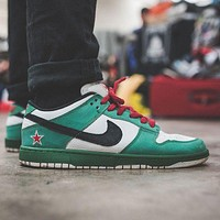 NIKE Dunk Low Pro SB Heineken tide brand low-help wild sports running shoes