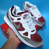 DCCK N387 Nike Air Span II summer vintage breathable men's cushioned running shoes Red White Grey