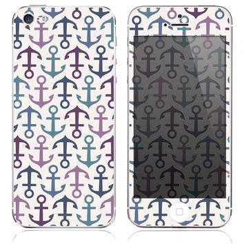 Light Coral Anchors Print Skin for the iPhone 3gs, 4/4s, 5, 5s or 5c