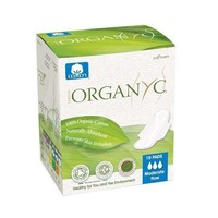 Organyc Cotton Feminine Pads - Maternity Pads with Wings - 10 Pack