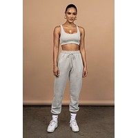 fhotwinter19 Explosive women's umbilical vest and tie-up trousers two-piece suit