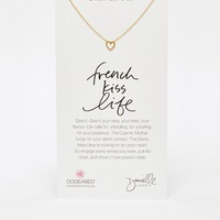 Dogeared + Danielle LaPorte Gold Plated French Kiss Life Sweetheart Boxed Necklace