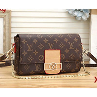 Onewel LV Shoulder Bag Louis Vuitton Women Contrast Coffee Brown Button Bag Crossbody bag Coffee