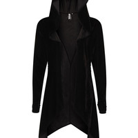 Mantra Black Gothic Cardigan Sweater by Punk Rave