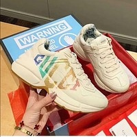 Gucci Sneaker's latest co-branded retro trend daddy shoes casual jogging shoes
