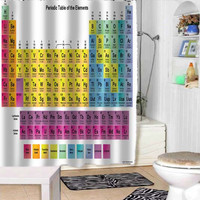 Periodic Table shower curtains adorabel bathroom and heppy shower.