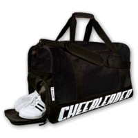 Sporty Travel Bag with Cheerleader Imprint and Cheer Shoe Storage