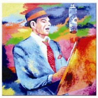 RAM Gameroom Frank Sinatra Oil Painting on Canvas - OP204 - All Wall Art - Wall Art & Coverings - Decor