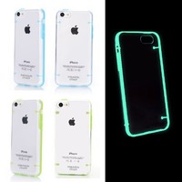 Luminous Glow in the Dark Cover Case for iPhone 5c (Set of 2: Blue + Green) Paragon Coast