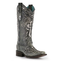 Corral Women's Studded Cross and Wing Western Boots