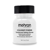 Mehron  Colorset Powder Profesional Stage Makeup Set Seal Translucent .25 oz