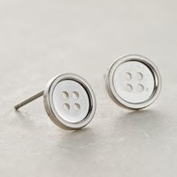 Button Posts by Anthropologie Silver All Earrings
