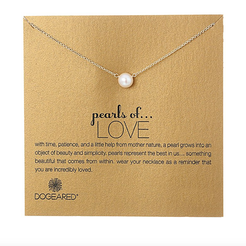Image of Dogeared - Pearls of Love White Pearl Necklace, Gold Dipped