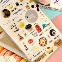 Make Everyday Happy Decorative Stickers Mobile Phone Stickers Stationery DIY Scrapbooking Album Stickers