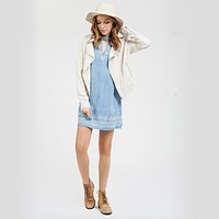 blu pepper - light weight woven jacket - natural