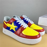 Foot Soldier Bape Sta Red Blue/yellow Sneaker Shoe 36 45 | Best Deal Online