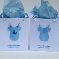 10 Personalized - Baby Shower Favors Bags – Boy Baby Shower Favors