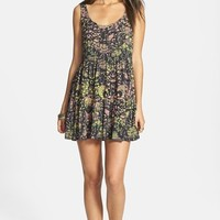 Volcom 'Inadaze' Tie Dye Babydoll Dress (Juniors)