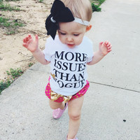 More Issues Than Vogue Sparkle Tee or Onsie