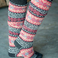 SNUGGLE BY THE FIRE BOOT SOCK - GRAY