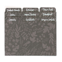 Herb Recipe Divider Tabs