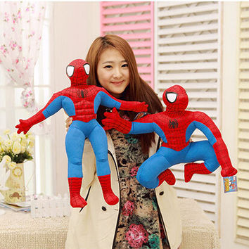 1pc Spiderman Plush Toys Cartoon Spider-man Plush Doll for Boys Kids Doll Action Figure Collectible Model Toys