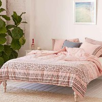 Olga Border Yarn Dyed Duvet Cover