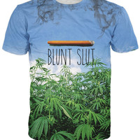 Fashion Clothing Women Men Blunt Slut V2 T-Shirt Weed Leaf Casual Sport Tops