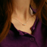 (With Christmas Gift Box)Jewelry New Arrival Gift Stylish Shiny Korean Pearls Accessory Simple Design Handcrafts Lock Sweater Necklace [9618378767]