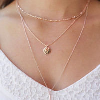 Blissful Moments Necklace - Rose Gold