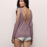V-Neck Cut-Out Sleeve Backless Top