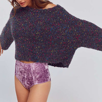 Out From Under Sabrina Crushed Velvet High-Waisted Undie | Urban Outfitters