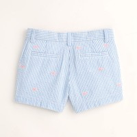 Girls Seersucker Embroidered Boulevard Shorts