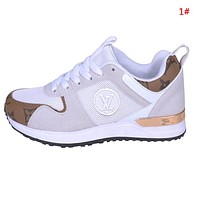 Louis Vuitton LV New Fashion Mesh Women Men Sports Leisure Running Shoes 1#