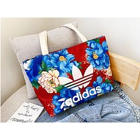 ADIDAS hot seller for women's canvas printed one-shoulder shopping bag with contrasting colors #2